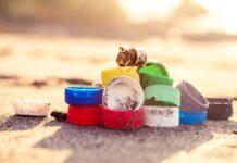 plastico praia embalagem