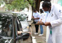 vacinação doação de alimentos