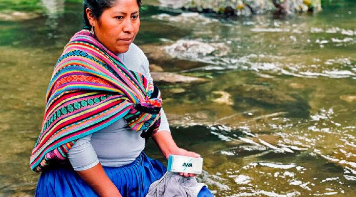 sabão limpa água rios Peru