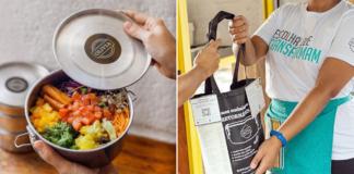 Restaurante faz delivery com embalagens e talheres retornáveis