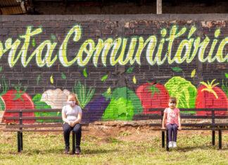 São José dos Pinhais ganha espaço de lazer com horta comunitária.