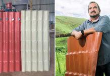 Empresa desenvolve telha feita 100% com plástico reciclado