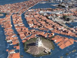 Aumento do nivel do mar no Farol de Mucuripe, Fortaleza